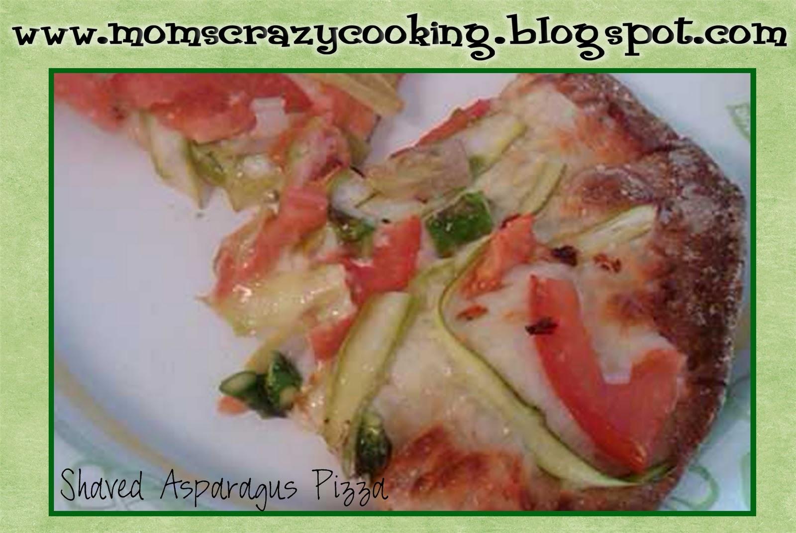 shaved asparagus pizza favorite pizza dough 1 2 pound asparagus 1 2 ...