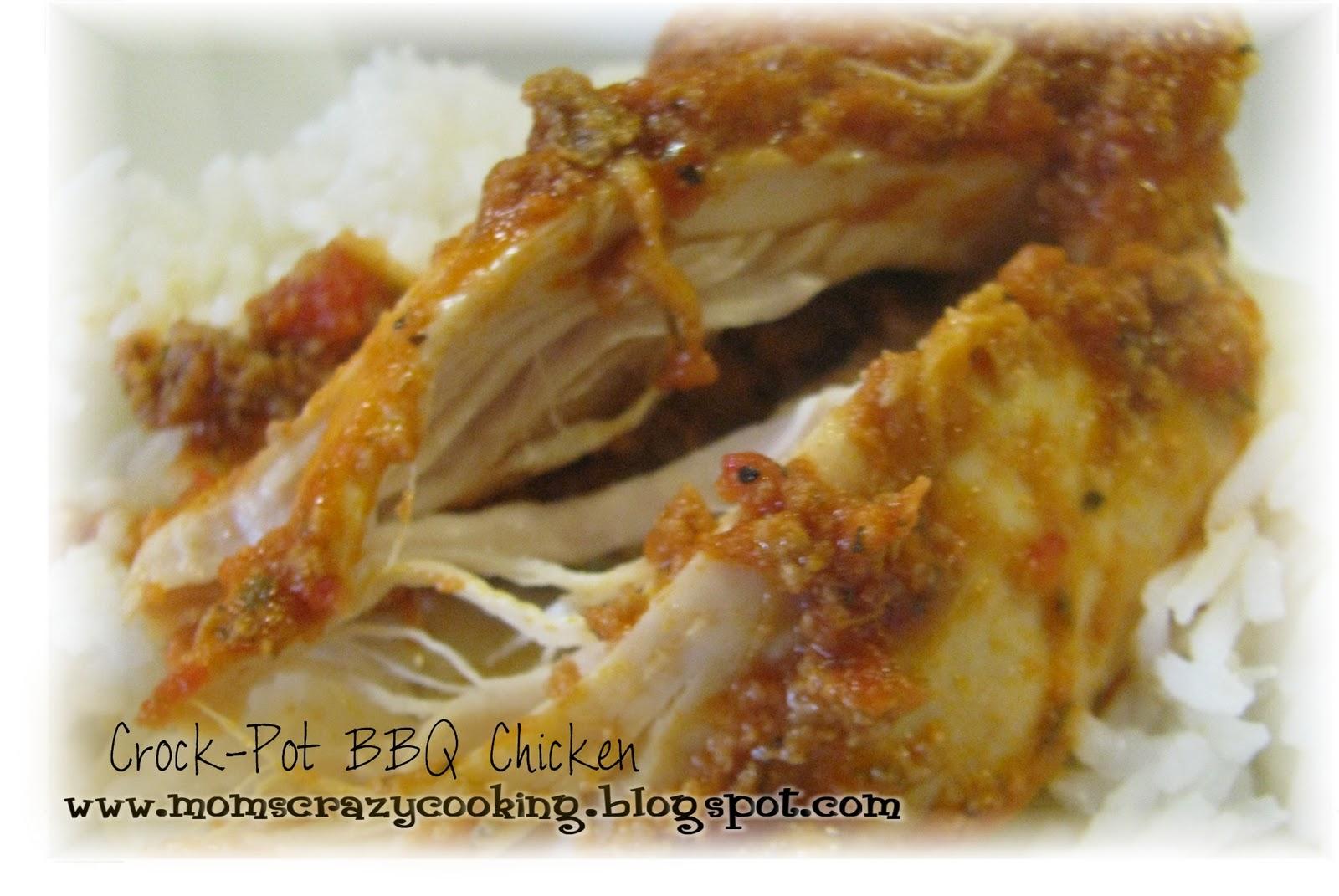 Crock-Pot BBQ Chicken or Crock-Pot Salsa Chicken or Salsa Roast