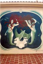Mermaids patio mural