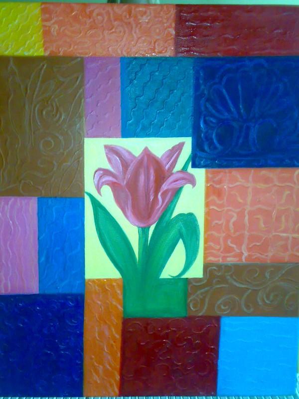 Yağlıboya Tablo Satıyoruz Soyut Bir Resim çiçek