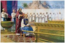 Moisés ordena Aarão ao Ministério
