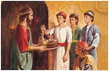 Daniel recusa a carne e o vinho do rei