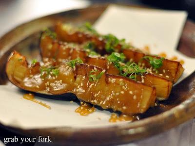 fried eggplant at nakashima the rocks