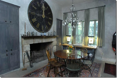 Dark ancient wall clock on the mantel ideas