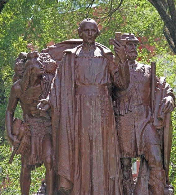 Public art in chicago jacques marquette memorial by