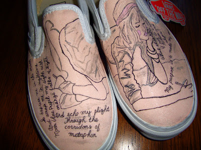 Custom writing on shoes
