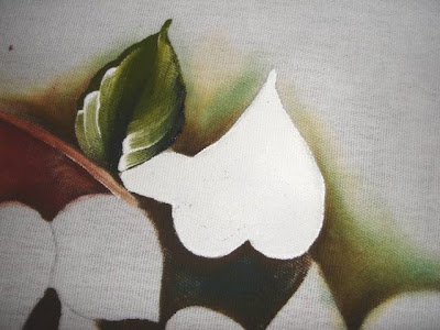 pintura em tecido flores copo de leite passo a passo