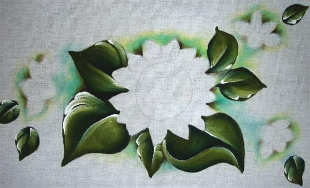 كيفية رسم على القماش تجول عباد الشمس