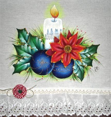 Natal Pintura Em Tecido
