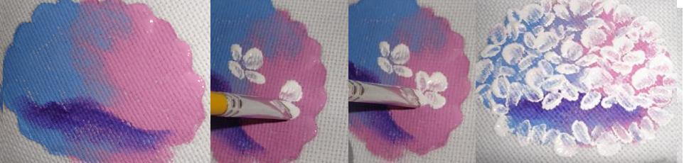 como pintar hortensia passo a passo