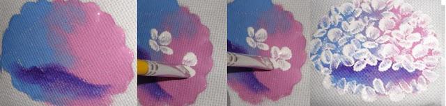 pintura em tecido como fazer hortênsia