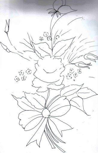 riscos de flores pintura em tecido dicas guia de cores