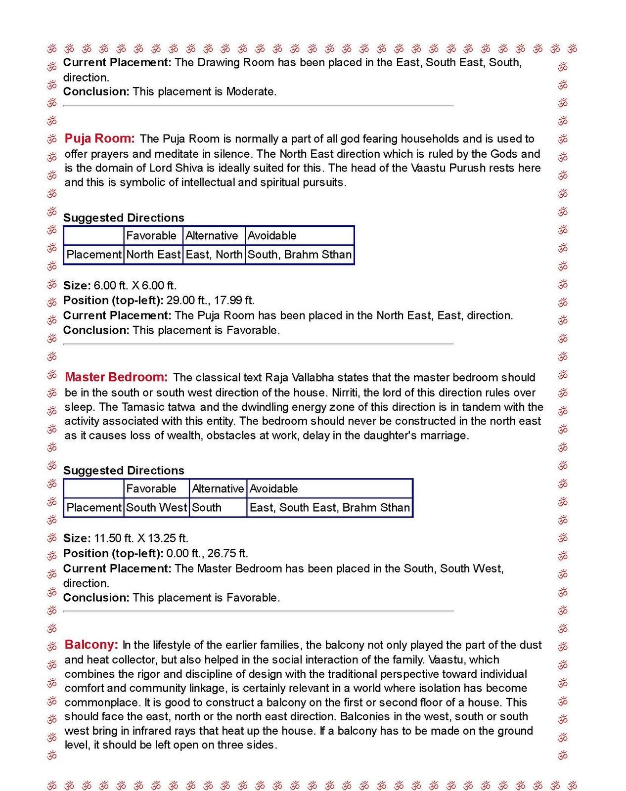vastu the dwelling science vastu profiling sample report
