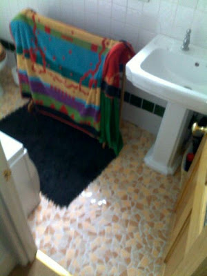 Bathroom with new lino