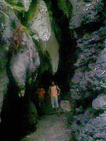 Entrance to the spooky cave