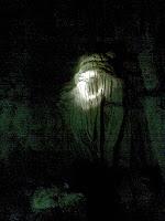 stalactite through torch beam
