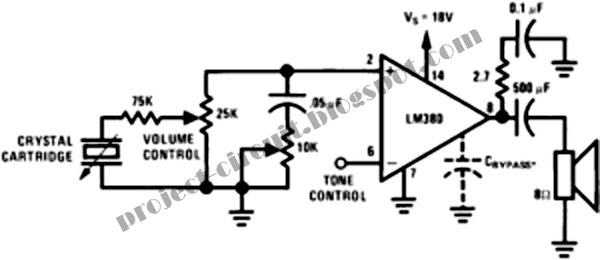 free project circuit diagram  2 5w audio power amplifier