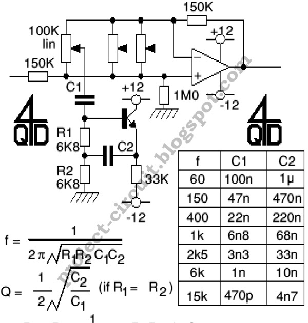electronics technology  audio graphic equalizer circuit