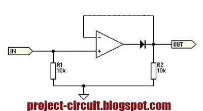 Free Project Circuit Diagram: Half Wave Precision ...