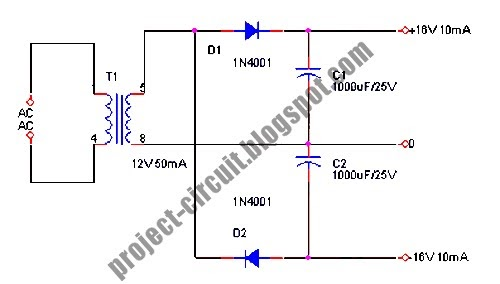 free project circuit diagram  symmetric power supply