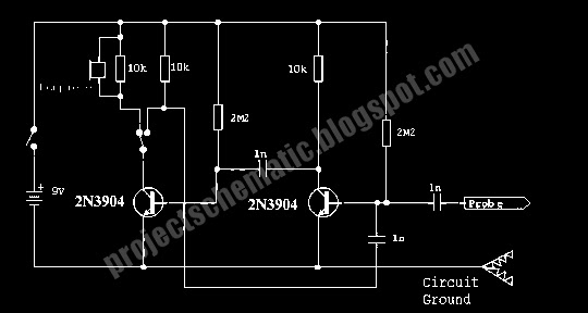 Free Project Circuit Schematic  Audio Signal Injector
