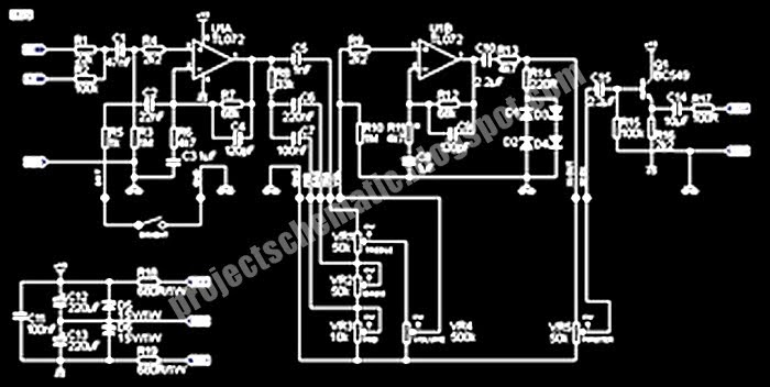 Free Project Circuit Schematic Guitar Pre Amp Circuit