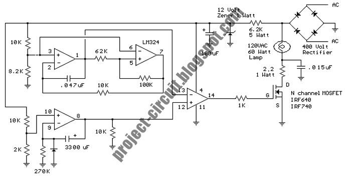 electronics technology  20vac 60 watt sunrise lamp circuit