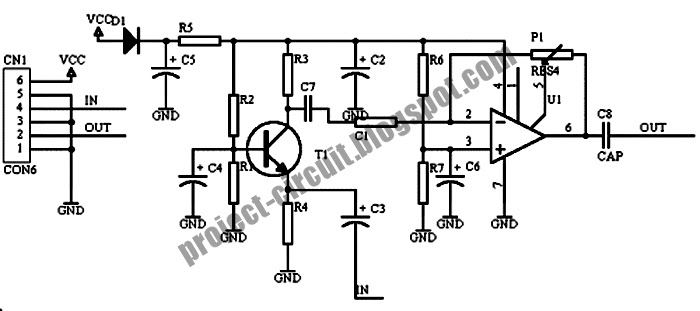 free project circuit diagram  low impedance microphone amplifier circuit