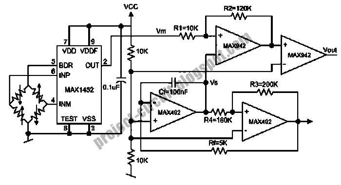electronics technology  wheatston bridge pwm signal conditioner circuit