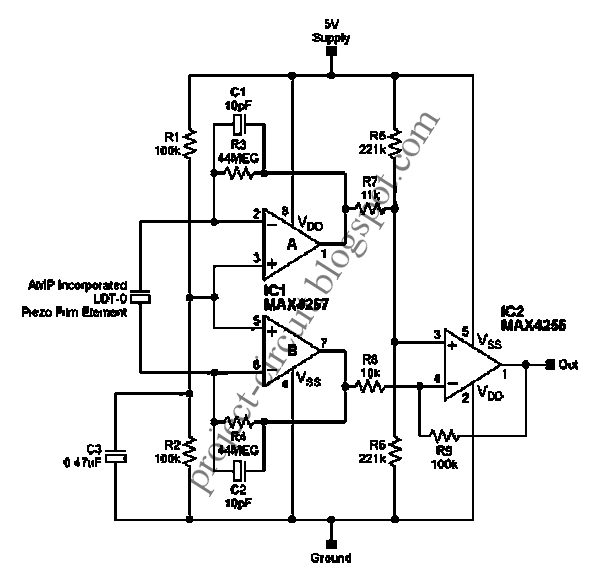 free project circuit diagram  signal conditioning