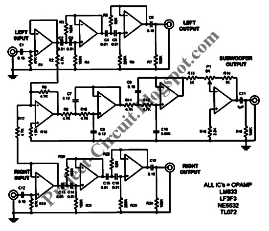 electronics technology  subwoofer filter circuit