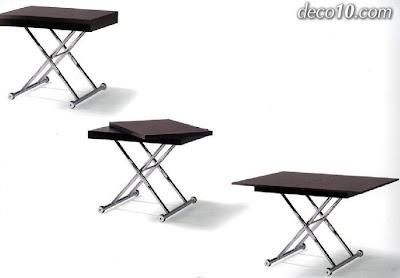 2 mesas por 1 mesa de centro elevable y extensible mesa de comedor 1 parte - Mesa plegable el corte ingles ...