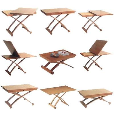2 mesas por 1 mesa de centro elevable y extensible mesa - Mesas de centro que se elevan ...