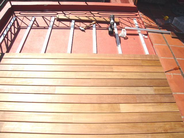 vamos con la tarima de madera facil instalacion
