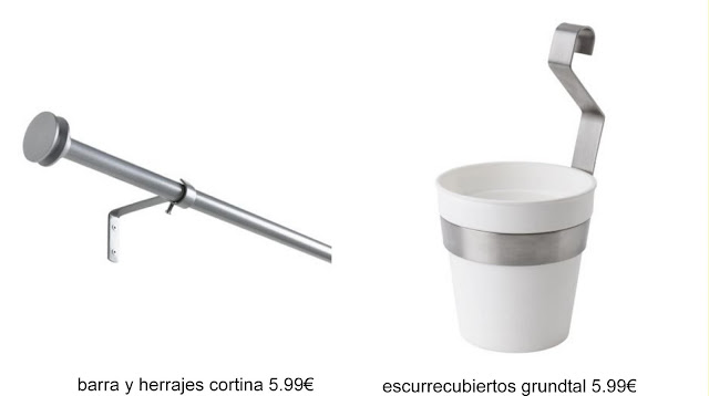 Ikea hack barra de cortina y escurrecubiertos para las - Soporte macetas ikea ...