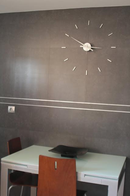 El reloj de pared de roc o c mo se hace - Reloj de pared adhesivo ...