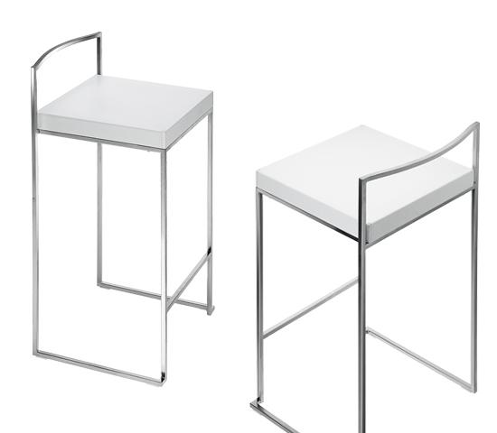 Taburetes de cocina taburete alto de cocina con estructura en aluminio y asiento en polipiel - Taburetes para barra de cocina ...