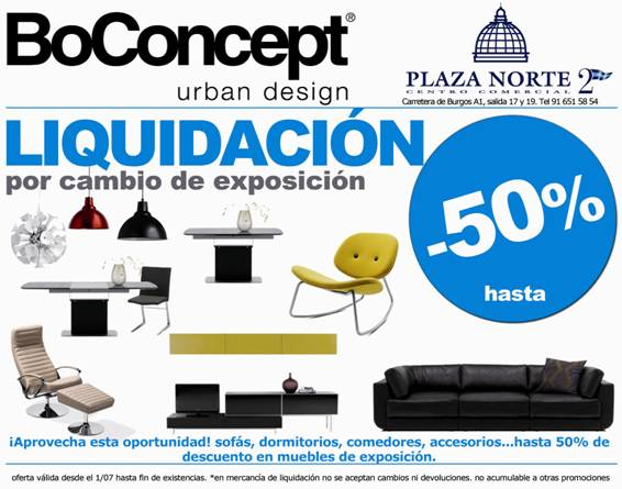 boconcept 50 de descuento por cambio de exposici n. Black Bedroom Furniture Sets. Home Design Ideas