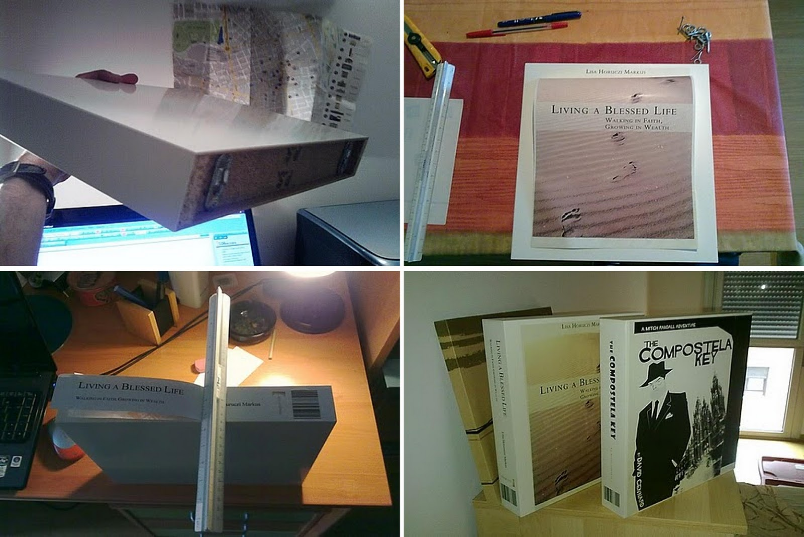 Ikea hack estante libro flotante con balda lack - Ikea estanterias libros ...