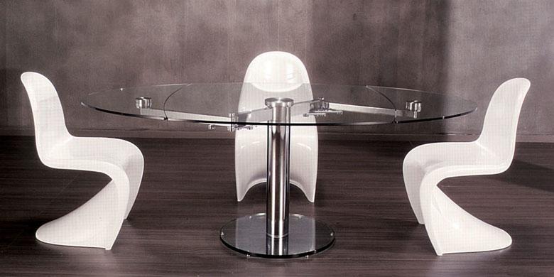 T preguntas mesa comedor extensible como la de la imagen - Mesas ovaladas de cristal ...