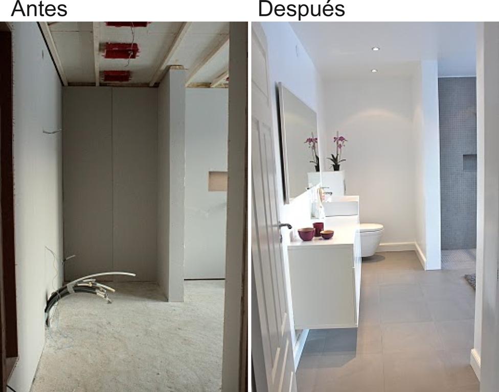 Antes y despu s reforma de un cuarto de ba o for Antebanos y banos fotos