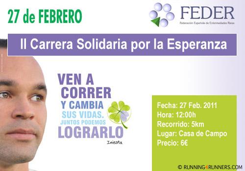 II Carrera Solidaria por la Esperanza - FEDER
