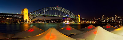 The Sydney Harbour Bridge (also known as the coat hanger), Australia