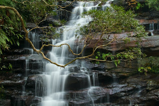 A Closeup of the main waterfall - Somersby Falls, Australia