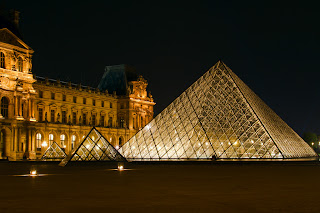 The Glass Pyramid at the Louvre - Paris, France
