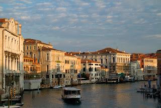 A Vaporetto navigates the Grand Canal