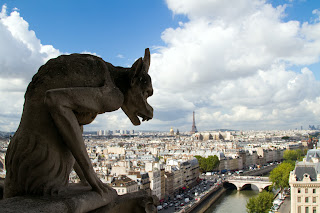 One of the Chimera of Notre Dame - Paris, France