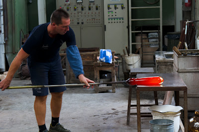 Another vase taking shape - Murano, Italy