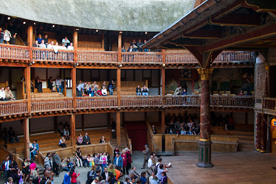 Crowd building up at The Globe - London, England