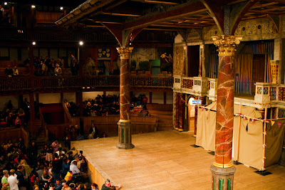 The stage at the Globe - London, England